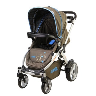 Mia Moda AtmosferraBlue and Brown Plastic Stroller