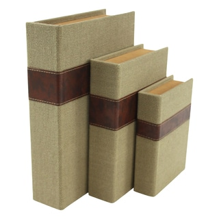 Madeline Faux Book Boxes (Set of 3)