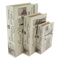 Paris Faux Book Boxes (Set of 3)