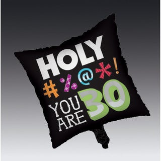 Holy Bleep 30th Birthday Square Metallic Balloons (Case of 12)