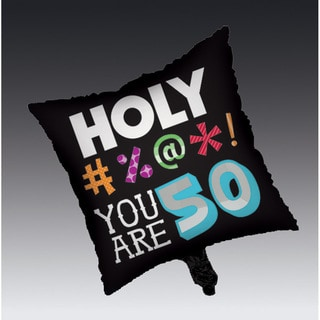 Holy Bleep 50th Square Metallic Balloons (Case of 12)