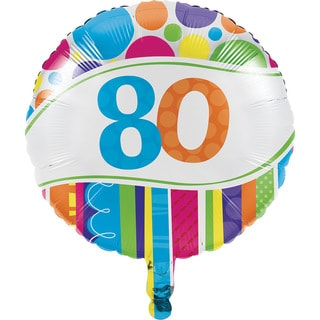 Bright And Bold 80th Metallic Balloons (Case of 10)