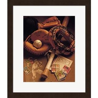 Michael Harrison 'Baseball' Framed Art