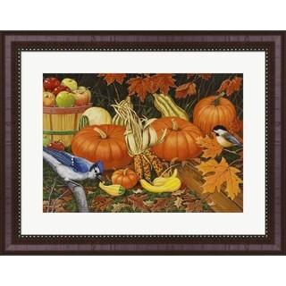 William Vanderdasson 'Autumn Bounty' Framed Art