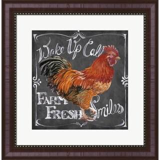 Art Licensing Studio 'Rooster on Chalkboard II' Framed Art