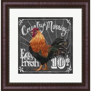 Art Licensing Studio 'Rooster on Chalkboard I' Framed Art