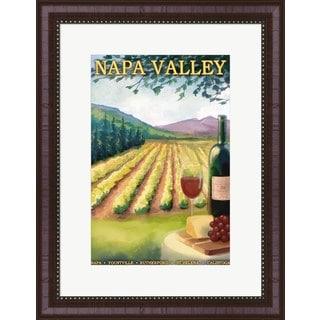 Lantern Press 'Napa Valley Ad' Framed Art