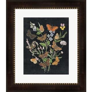Wild Apple Portfolio 'Butterfly Bouquet on Black I' Framed Art