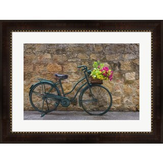 Michael Blanchette Photography 'Green Bicycle' Framed Art