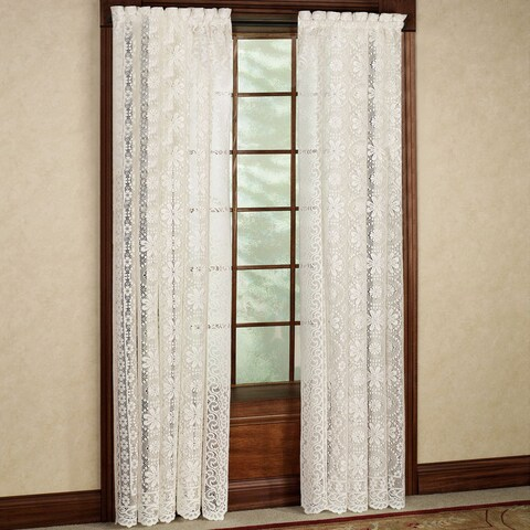 Luxurious Old World Style Lace Window Curtain Panel