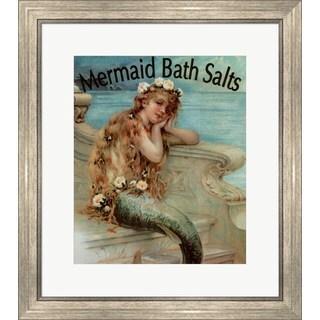 Vintage Apple Collection 'Mermaid Bathsalts' Framed Art
