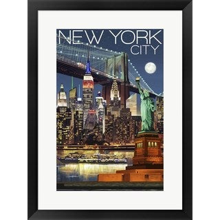 Lantern Press 'New York City 1' Framed Art