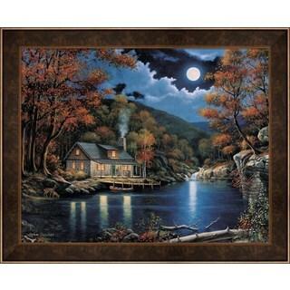 Shop John Zaccheo Cabin By The Lake Framed Art On Sale