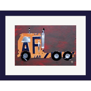 Design Turnpike 'Semi Truck License Plate Art' Framed Art