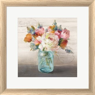 Danhui Nai 'French Cottage Bouquet II' Framed Wall Art