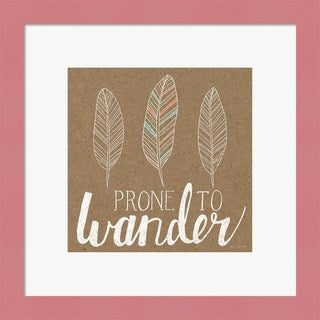 Laura Marshall 'Prone to Wander' Framed Art