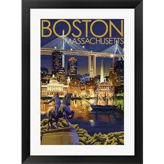 Lantern Press 'Boston Massachusetts Paul Revere' Framed Wall Art