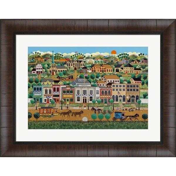 NA Anthony Kleem 'My Home Town' 26.25-inch x 33.5-inch Framed Art