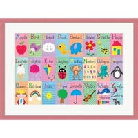 Louise Carey 'Alphabet Squares' Framed Art