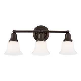 Hudson Valley Edison Collection 341 3-light Old Bronze Bath And Vanity