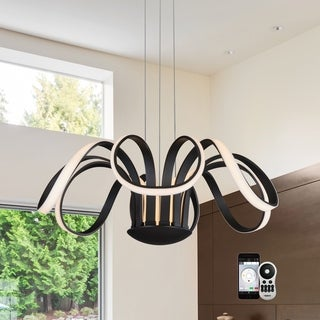 VONN Lighting VTC3630 Capella WiFi Tunable-White LED Chandelier Black