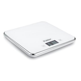 Polder White Stainless Steel Digital Scale