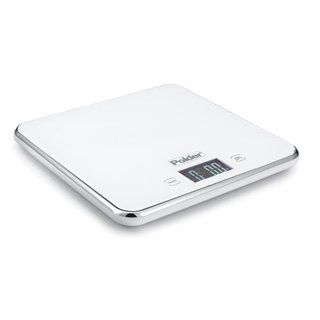 Polder White Stainless Steel Digital Scale