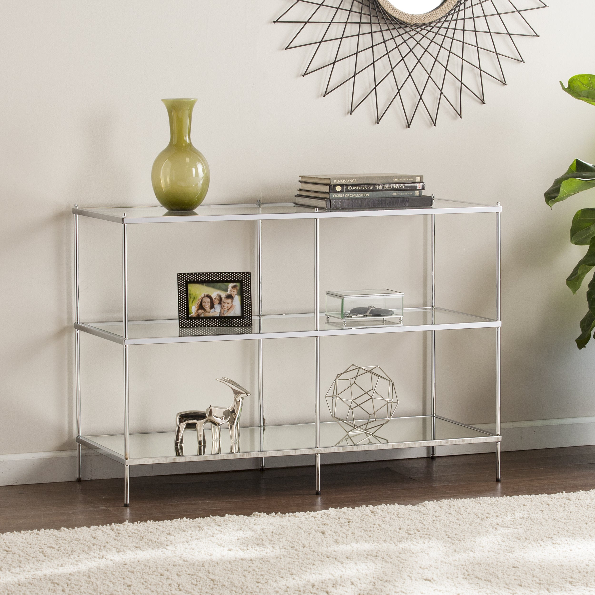 Harper Blvd Knowles Glam Mirrored Console Table U2013 Chrome
