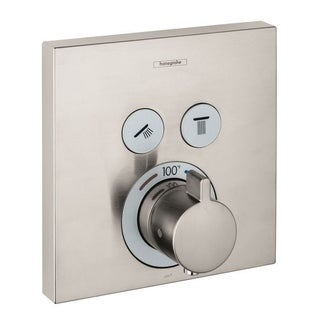 Hansgrohe HG ShowerSelect E Thermostatic Trim 2 Function, Square in Brushed Nickel