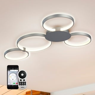 Capella VTCF4443AL 43-inch WiFi-Enabled Tunable-White LED Ceiling Fixture in Silver, VISION Series