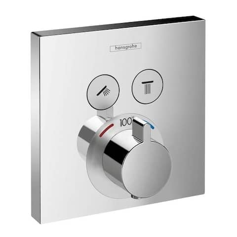 Hansgrohe ShowerSelect Square Thermostatic Trim for 2 Functions