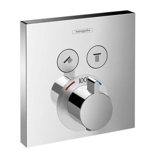 Hansgrohe HG ShowerSelect E Thermostatic Trim 2 Function, Square in Chrome