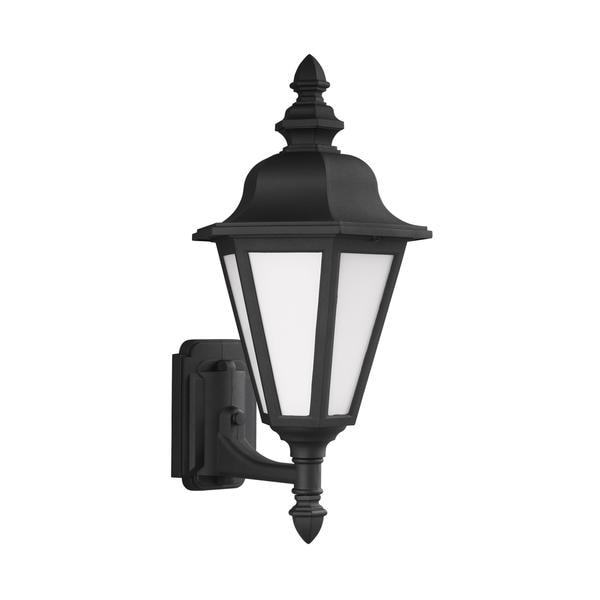 Sea Gull Brentwood 1 Light Black Outdoor Fixture