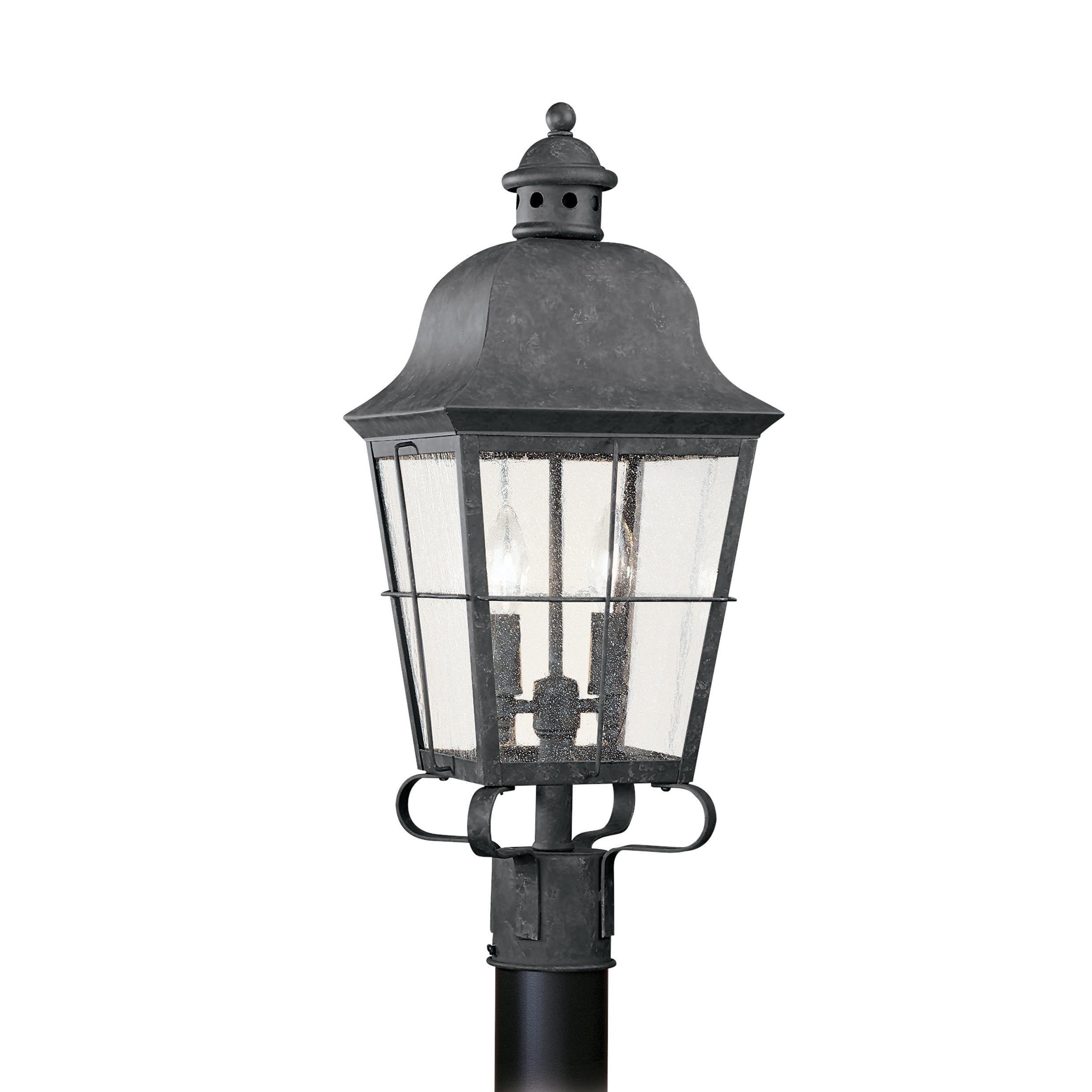 Sea Gull Chatham 2 Light Oxidized Bronze Outdoor Fixture (Two Light Outdoor Post Lantern)