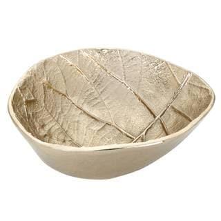 Lenox Merona Gold-colored Aluminium Leaf Design 6 1/2 Inch Bowl