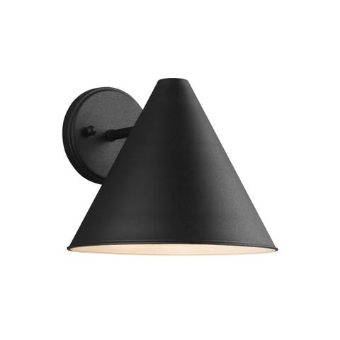 Sea Gull Crittenden 1 Light Black Outdoor Fixture