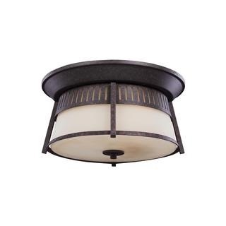 Sea Gull Hamilton Heights 3 Light Oxford Bronze Outdoor Fixture