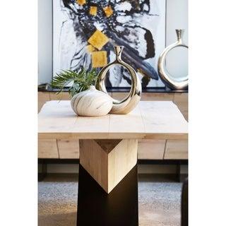 Aurelle Home Swirled Grey Clay Vase