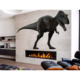 Full Color Black T-Rex Full Color Decal, Dinosaur Full color sticker, wall art Sticker Decal size 44x70