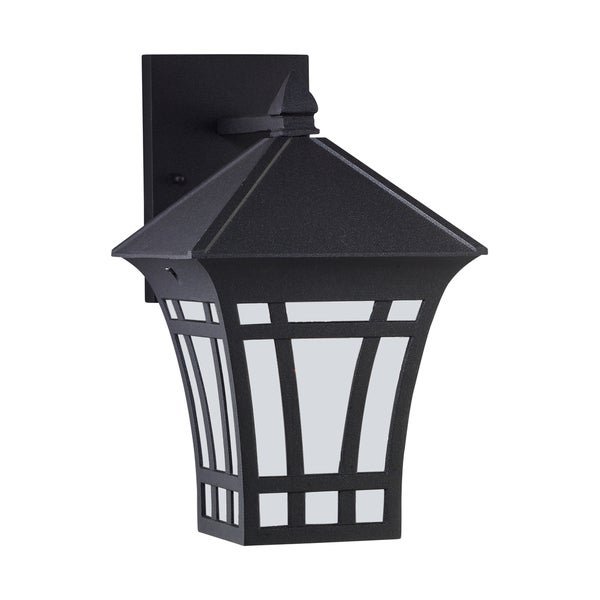 Sea Gull Herrington 1 Light Black Outdoor Fixture