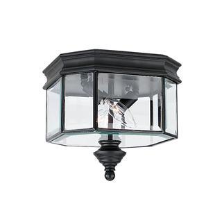 Sea Gull Hill Gate 2 Light Black Outdoor Fixture
