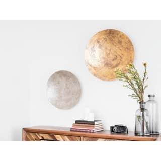 Aurelle Home Grey 19-inch Disc Wall Decoration