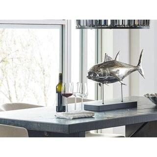 Aurelle Home Large Tuna Fish on Base Decoration