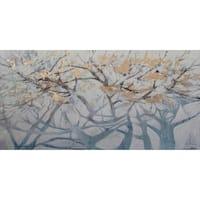 Aurelle Home Abstract Trees Canvas Wall Decor