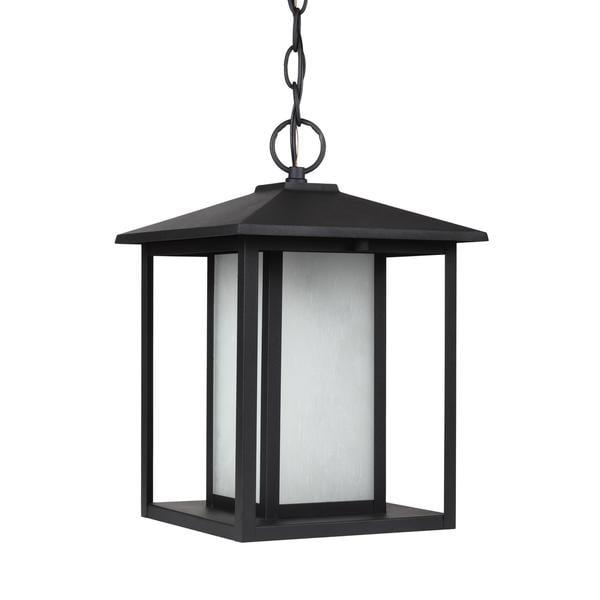 Sea Gull Hunnington 1 Light Black Outdoor Fixture