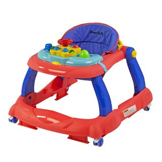 Dream on Me Spirit Coral and Blue Activity Walker and Walk Behind