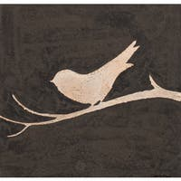 Aurelle Home Bird on a Branch I Art Wall Decor