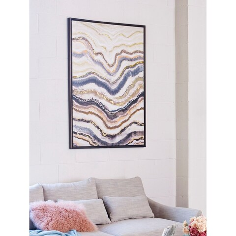 Aurelle Home Warped Lines Wall Decor
