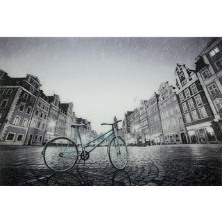 Aurelle Home Amsterdam Bike in the City Wall Decor