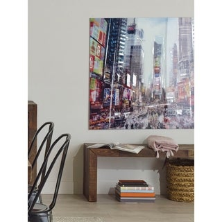 Aurelle Home Manhattan TIme Square Hustle Wall Decor